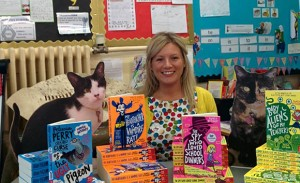 Pamela Butchart with books