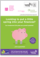 Looking to put a little spring into your finances? - postcard